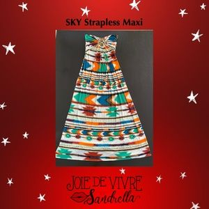 SKY Strapless Maxi, Multi-Color/Southwest Pattern